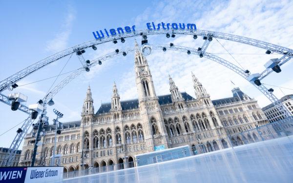 Der Gerüstbogen des Wiener Eistraums