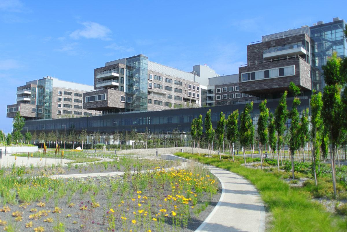 Das begrünte Krankenhaus in Floridsdorf