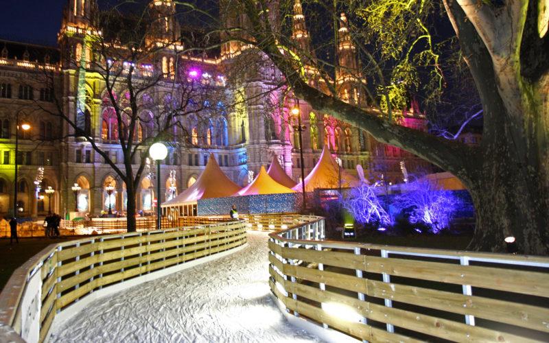 Alte Ansicht des Wiener Eistraums