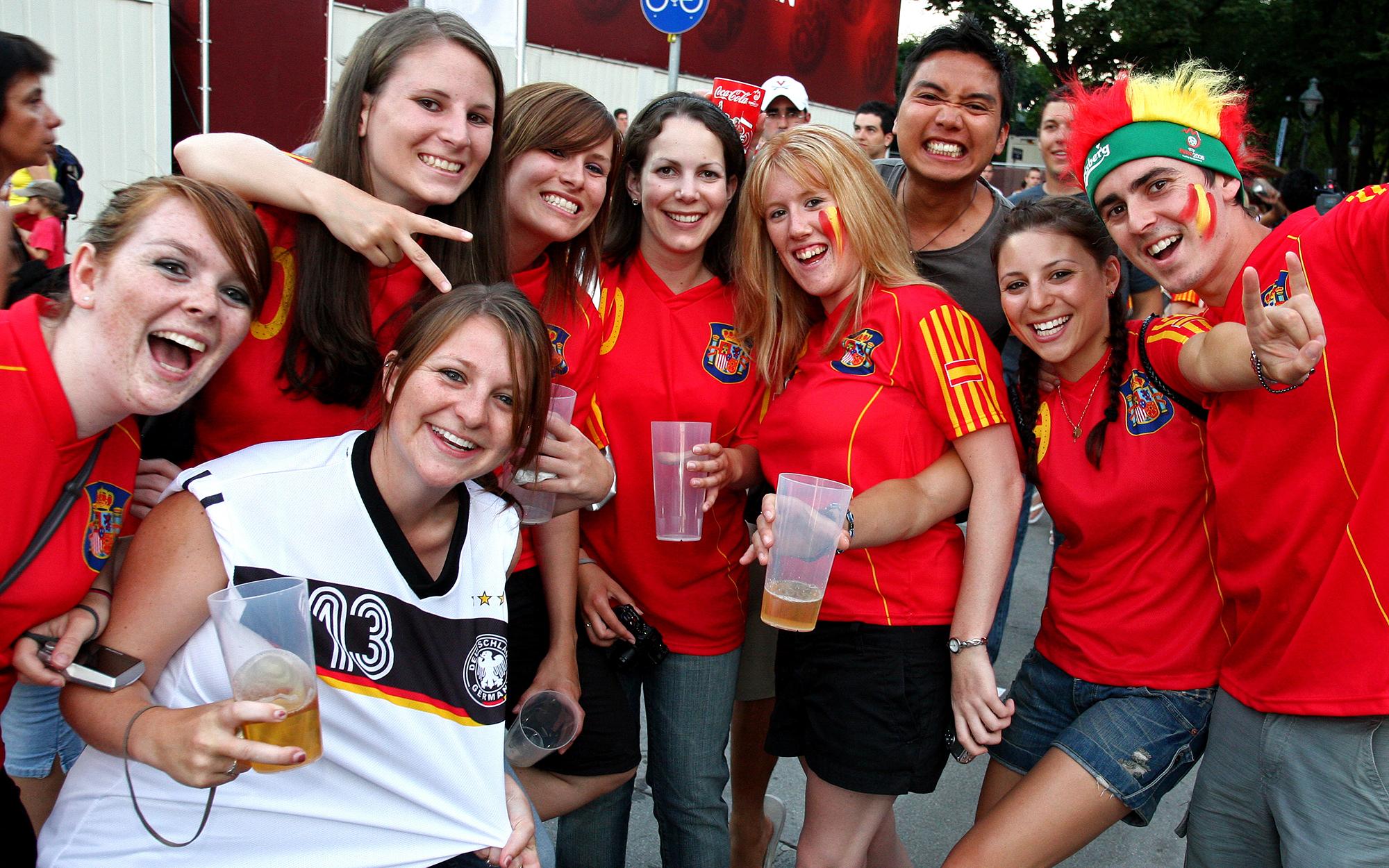 Fans am Finaltag der UEFA EURO 2008