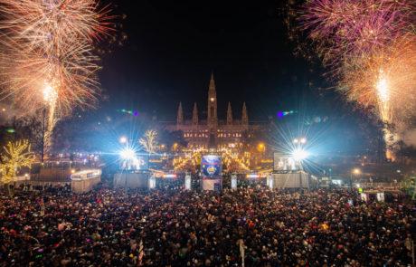 Silvesterpfad 2018, Feuerwerk am Rathausplatz