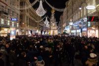 Silvesterpfad 2018, Menschen am Wiener Graben