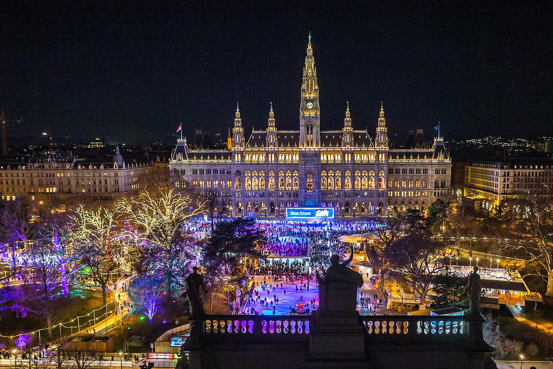 Wiener Eistraum 2019 - Blick vom Burgtheater
