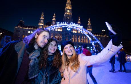 Selfie auf dem Wiener Eistraum
